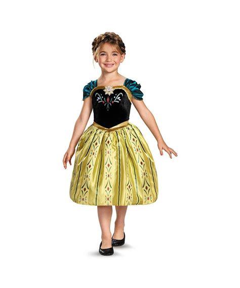 disney frozen anna coronation gown classic girls costume