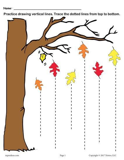printable fall  tracing worksheets  tracing