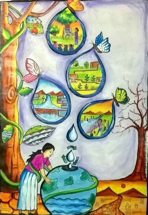 gallery file water poster save water drawing water