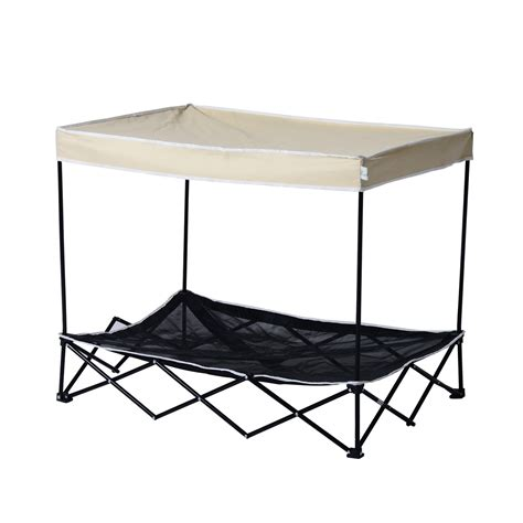 bed frame and mattress pawhut d04 031 outdoor pet cot bed canopy puppy