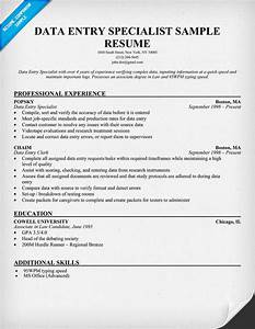 sample resume for data entry sample resume With data entry resume sample