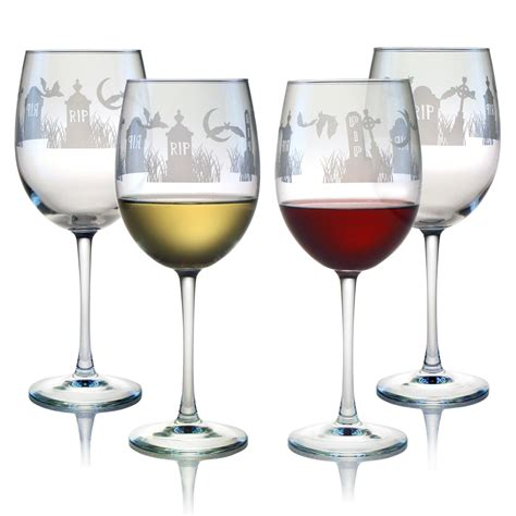 shop halloween rip  oz wine glasses set