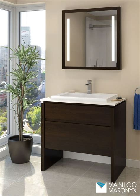 simple modern bath vanity  vanico maronyx desk