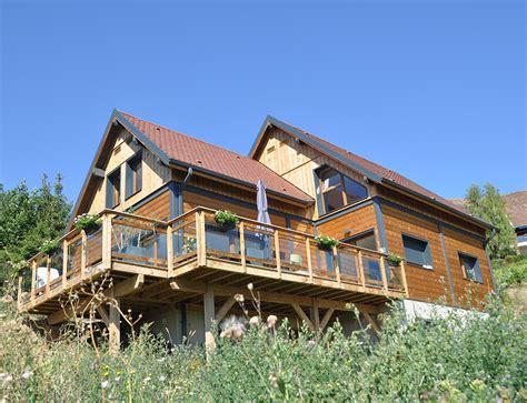 chalet et maison en bois grande maison bois style chalet nos maisons ossatures bois 68 haut rhin