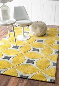 Teppich Gelb Grau : gelber teppich f r eine frische und strahlende zimmergestaltung ~ Indierocktalk.com Haus und Dekorationen