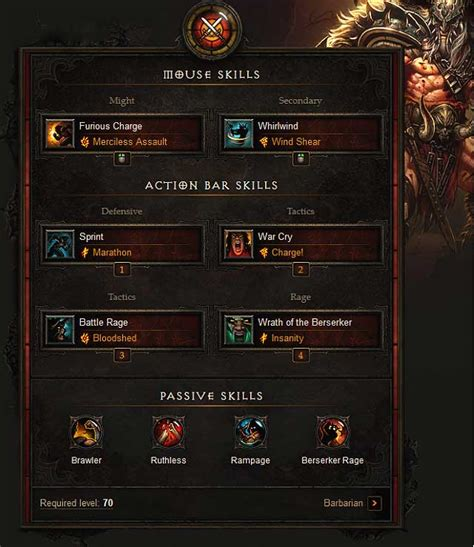 barbarian diablo guide game builds example iii skills reaper souls button gamepressure charge word assault mouse left guides