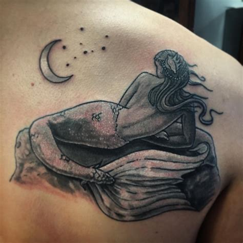 mermaid   moon tattoo venice tattoo art designs