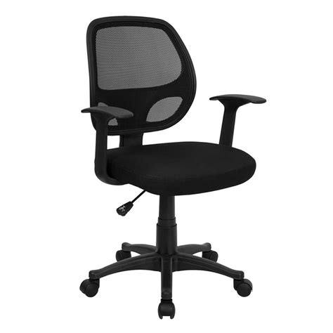 Office Chairs For Back by Mid Back Black Mesh Swivel Task Chair Review
