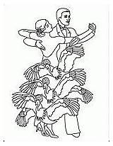 Coloring Flamenco Dancer Ballroom Spanish Sketch Template sketch template