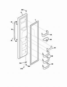 Freezer Door Diagram  U0026 Parts List For Model Plhs239zcb2 Frigidaire