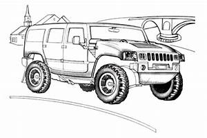 Hummer H2 Coloring Page Free Printable Coloring Pages