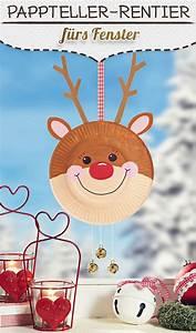 Basteln Mit Kindern Weihnachten Und Winter : pappteller rudolph f rs fenster basteln mit kindern pinterest weihnachtsdeko basteln ~ Watch28wear.com Haus und Dekorationen
