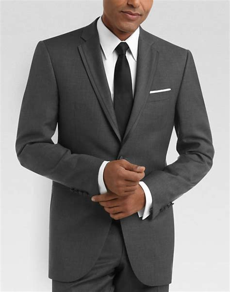 menswear house 100 wool gray slim fit tuxedo s tuxedos black by
