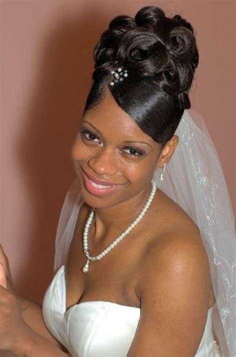 black wedding hairstyles  black women big curls updo