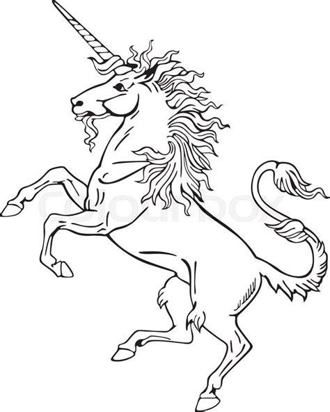 vectorial pictogram   heraldic monster unicorn