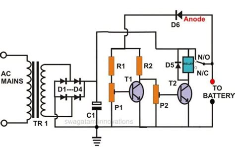 Self Regulating Lead Acid Battery Charger Circuit