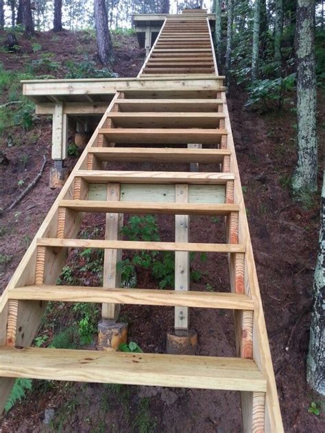 building stairs   steep slope handrails