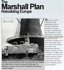Image result for Marshall Plan.