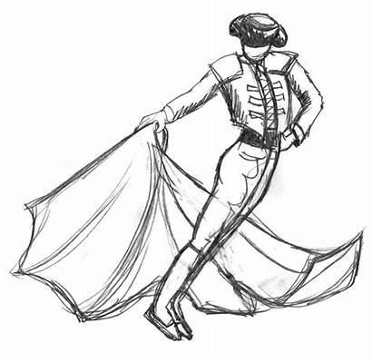 Matador Sketch Drawing Concept Coloring Pages Jacksonville