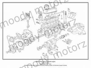 Mini Cooper Classic Engine Diagram Schematic Poster Print