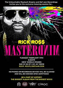 """Rick Ro$$'s New Album, """"Mastermind"""" Listening Party in New ..."""