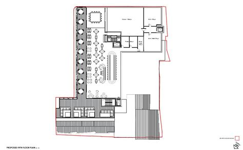 7 proposed roof terrace floor plan slatters development