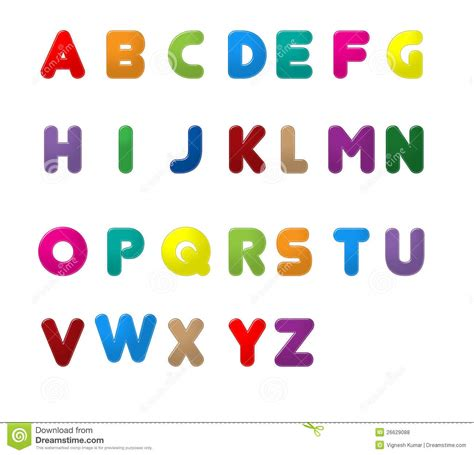 English Letters A To Z Stock Illustration Illustration Of