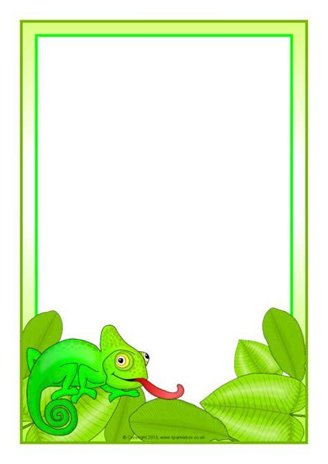 chameleon  page borders sb sparklebox
