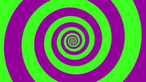 Green & Purple Spiral Optical Illusion Illustration