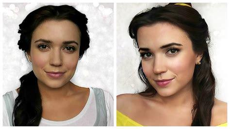 belle beauty   beast hair makeup tutorial youtube
