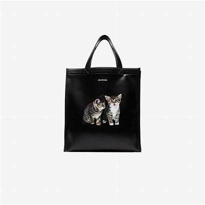 Balenciaga Tote Leather Cat