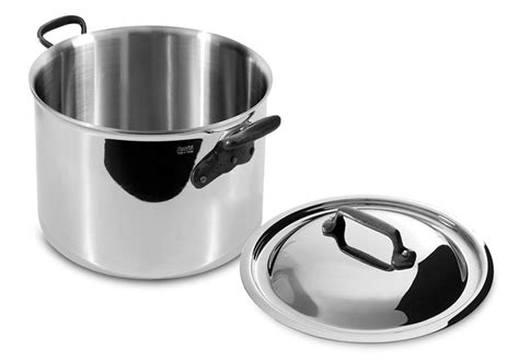 mauviel mcook  stainless steel single ply stock pot  quart cutlery