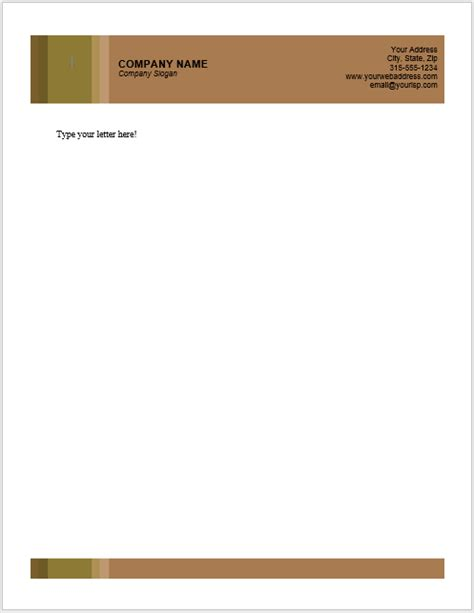 business letterhead templates word excel