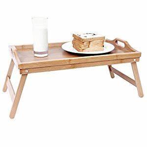 Table Petit Dejeuner Lit : songmics plateau petit d jeuner table de lit en bambou pour repas 50 x 30 cm lld530 belle table ~ Melissatoandfro.com Idées de Décoration