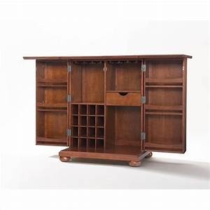 Crosley furniture alexandria expandable home bar cabinet for Home bar furniture on ebay
