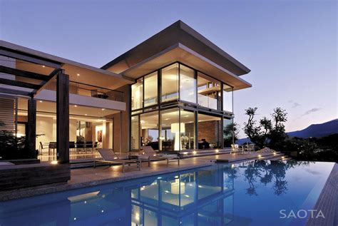 modern cabinet modern villa montrose house by saota cape town south africa