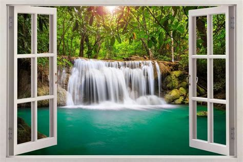 Waterfall Fantasy Forest 3d Window View Decal Wall Sticker. Chandelier In Living Room. Waiting Room Chairs For Sale. Dining Room Booth Style Seating. Unique Outdoor Halloween Decorations. Living Room Rug Size. Decorative Rock Prices. Decorative Wood Dowels. Sauna Steam Room