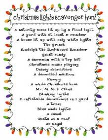 take this christmas lights scavenger hunt along when we drive around and look at lights there