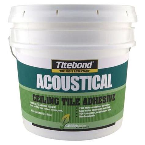 titebond 4 gal greenchoice acoustical ceiling tile