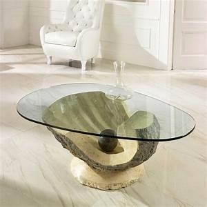 Couchtisch Mit Glasplatte : design couchtisch ricana aus stein mit glasplatte ~ Whattoseeinmadrid.com Haus und Dekorationen