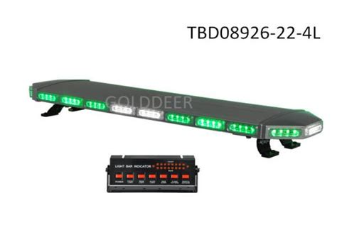 Security Vehicle Roof Led Warning Light Bar Green With