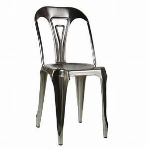Chaise Style Industriel : chaise style industriel en m tal vintage fer naturel achat vente chaise gris cdiscount ~ Teatrodelosmanantiales.com Idées de Décoration