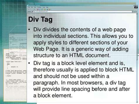 Html Div Span - css selectors div span and link