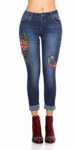 Jeans Mit Strass Und Perlen : skinny jeans im r hren style mit blumen stickerei und perlen verzierung ebay ~ Frokenaadalensverden.com Haus und Dekorationen