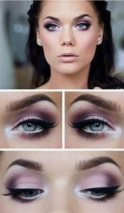 Smokey Eyes Blaue Augen : smokey eyes in lilat nen und lidstrich f r blaue augen beauty ~ Frokenaadalensverden.com Haus und Dekorationen