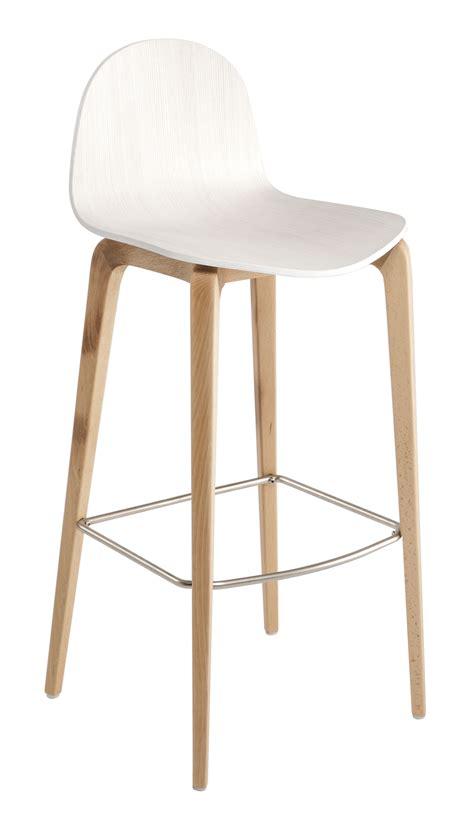 chaise bistrot blanche tabouret de bar bob h 75 cm bois blanc bois ondarreta