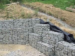 Mur De Soutenement En Gabion : gabions murs de sout nement ~ Melissatoandfro.com Idées de Décoration