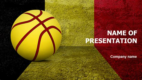 basketball  belgium powerpoint template