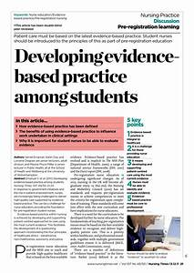 Pdf Developing Evidence Based Practice Among Students