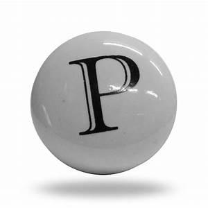 ceramic letter p door step knob With letter door knobs